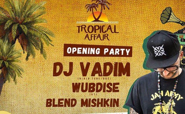 O θρυλικός DJ Vadim στο Bolivar Beach Bar