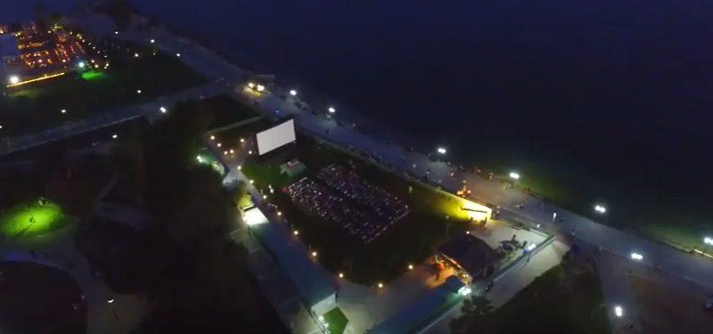 Νυχτερινή πτήση πάνω από το Cine Alimos
