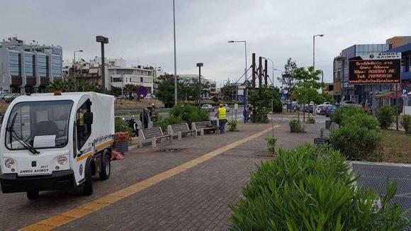 Άλιμος: Στη μάχη για την καθαριότητα το ηλεκτροκίνητο φορτηγάκι (ΕΙΚΟΝΕΣ)