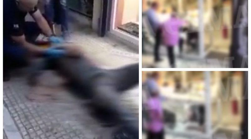 Σοκ στο Πανελλήνιο από το βίντεο με το θάνατο ληστή στην Ομόνοια