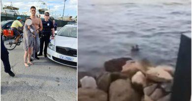 Άλιμος: Συγκλονιστικό βίντεο με τη διάσωση κολυμβήτριας από αστυνομικό της Άμεσης Δράσης